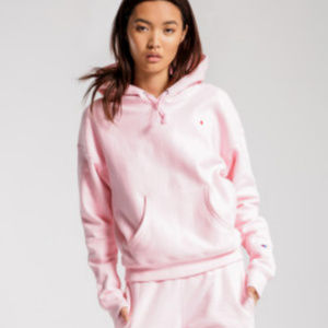 Champion Reverse Weave Pink Hoodie Petite Small